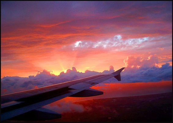 Изгреви и залези: От самолета